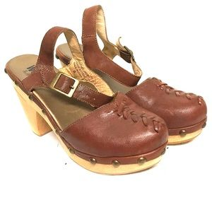 Jeffrey Campbell clogs from his WOODIES line